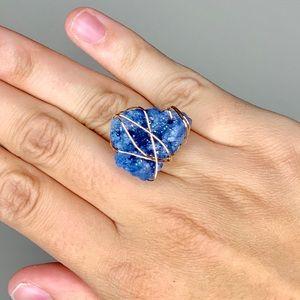 🎉5 for $25🎉 Blue Druzy Ring